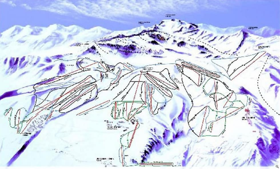 El Colorado-Farellones Trail Map | Liftopia