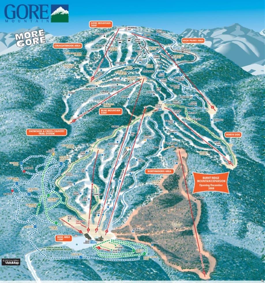 gore mountain trail map | liftopia