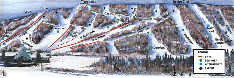 Canyon Ski Area Trail Map | Liftopia on