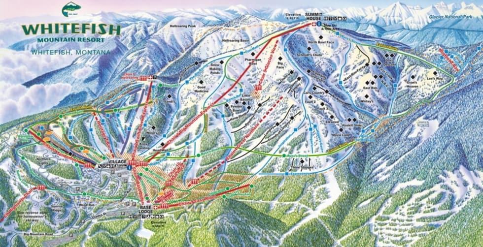 Whitefish Mountain Resort Trail Map   Liftopia
