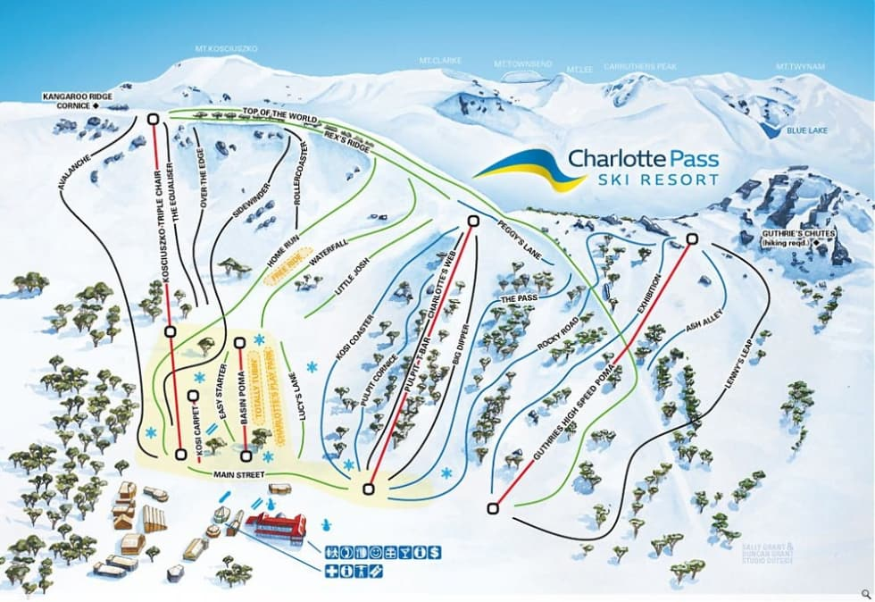 Charlotte Pass Trail Map Liftopia