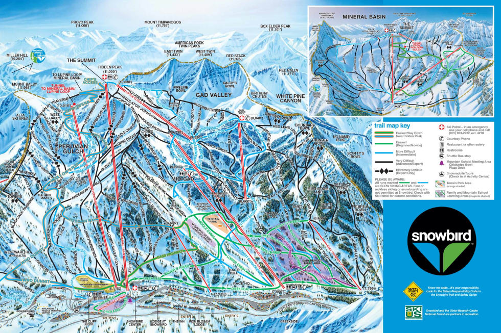 Snowbird Trail Map Liftopia - Eastern-us-ski-resorts-map