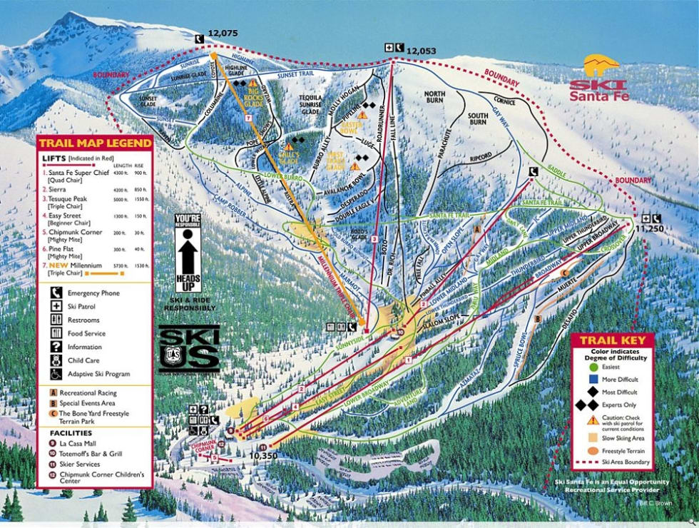 Ski Santa Fe Trail Map | Liftopia