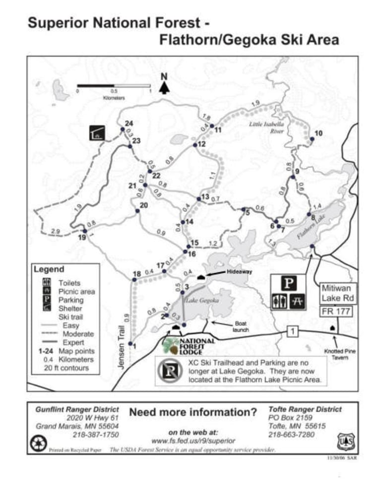National Forest Lodge Trail Map   Liftopia