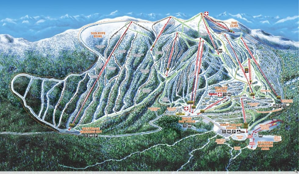 Big White Map Big White Trail Map | Liftopia