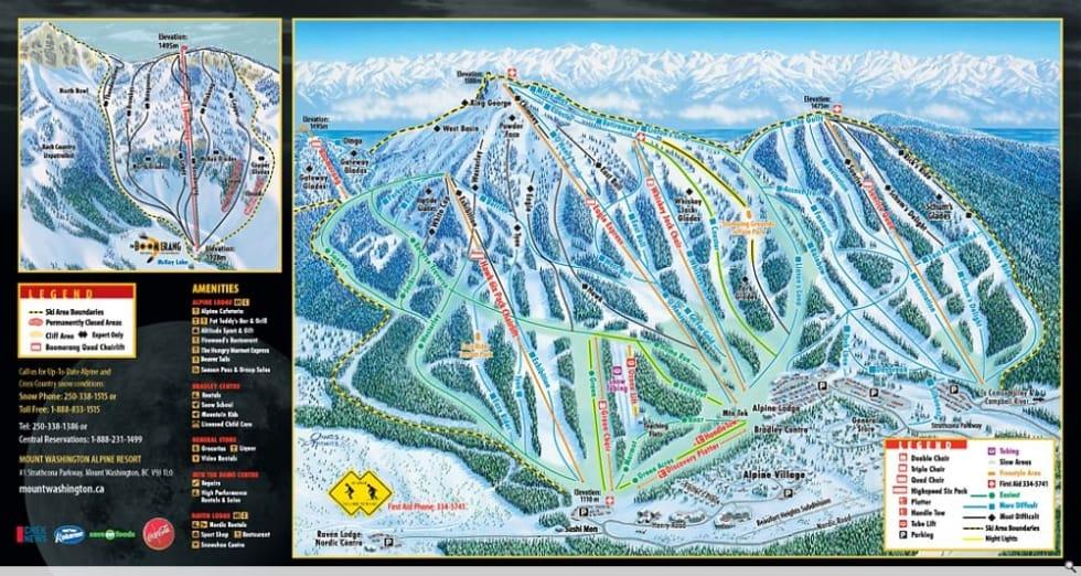 Mount Washington Trail Map   Liftopia