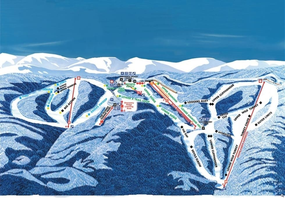 Skiing Virginia Map.Wintergreen Resort Trail Map Liftopia