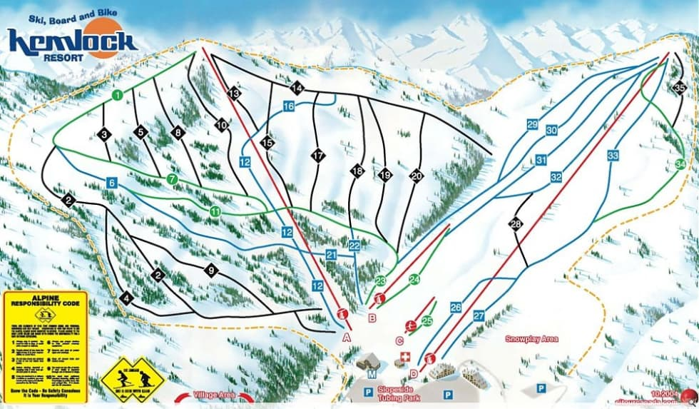 Hemlock Resort Trail Map | Liftopia on map airports in canada, map national parks in canada, map churches in canada, map mountains in canada, map golf courses in canada, map cities in canada, map british columbia,