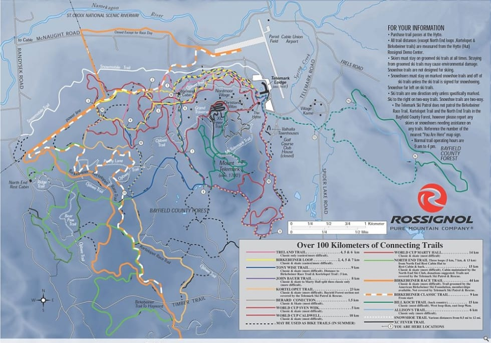 Telemark XC Trail Map | Liftopia on