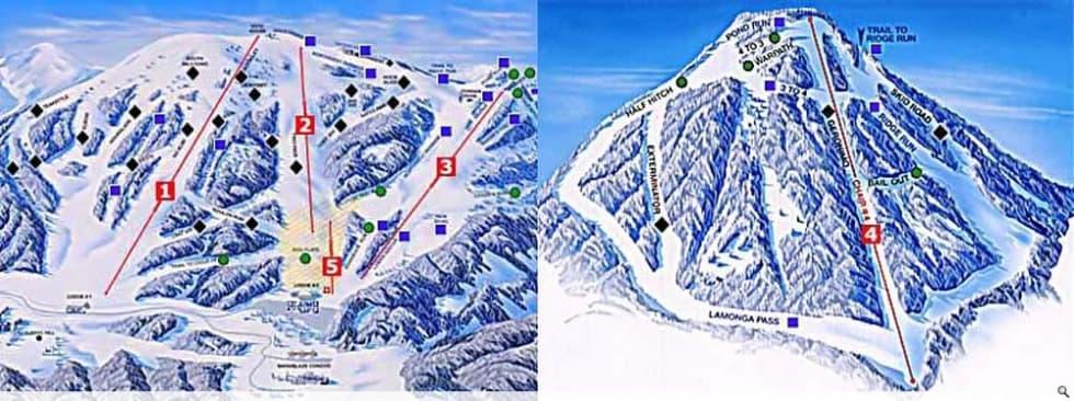 Spokane Elevation Map.Mt Spokane Trail Map Liftopia
