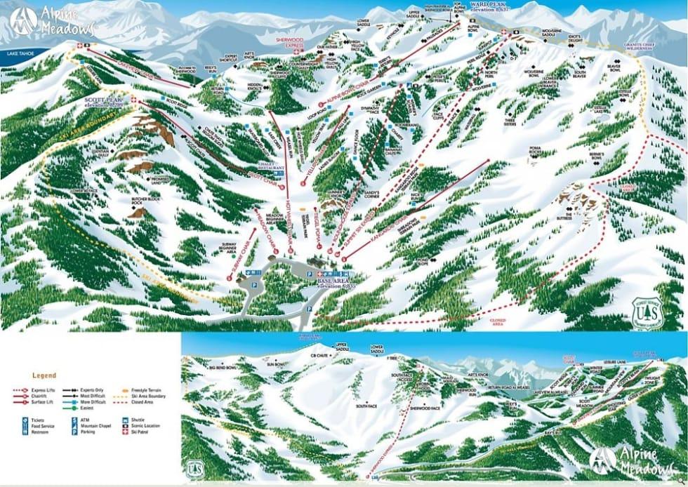 Alpine Meadows Trail Map Liftopia