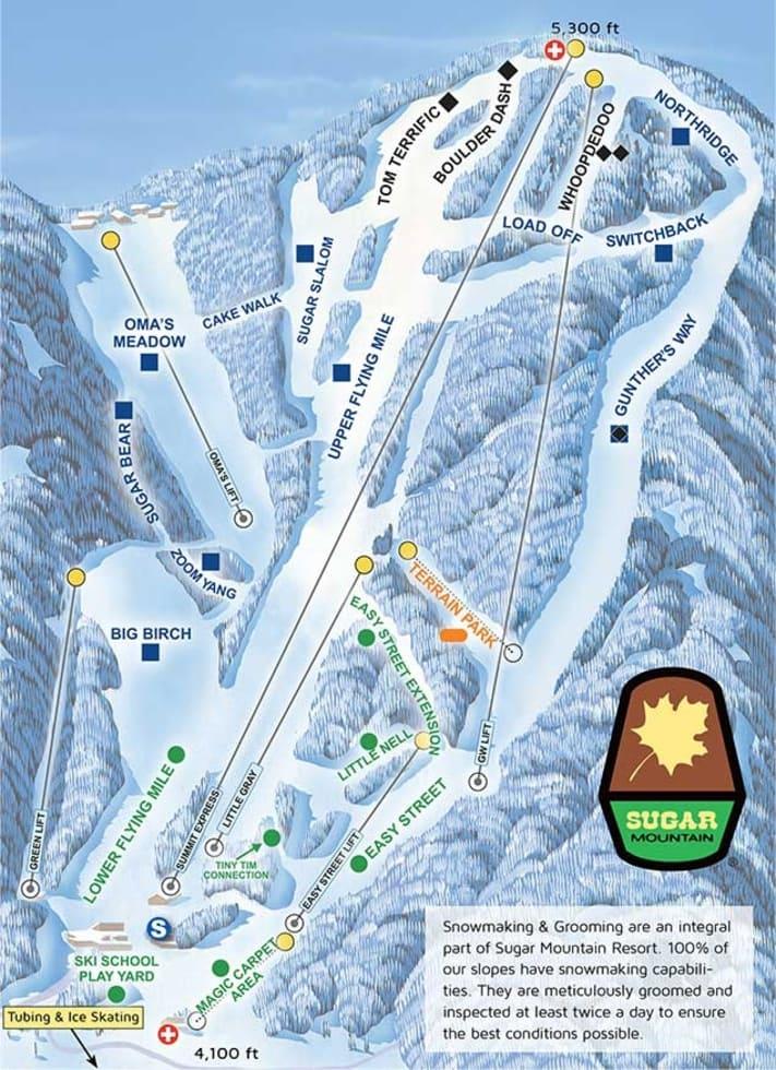 Sugar Mountain Trail Map Liftopia