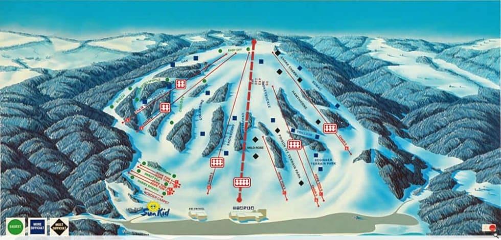 Ski Resort Michigan Map.Bittersweet Trail Map Liftopia