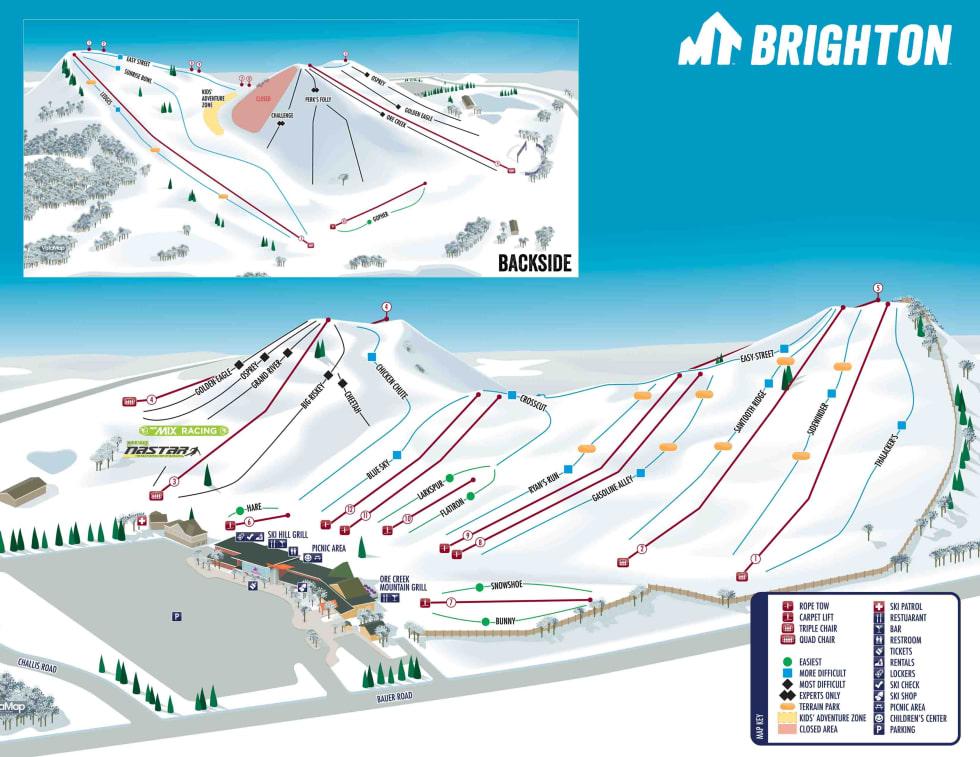 Ski In Michigan Map.Mt Brighton Trail Map Liftopia