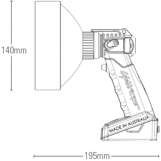 Enforcer Handheld Technical Drawing