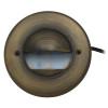 Integrated LED Half Moon Bay Deck Light for Low Voltage Landscape Lighting - Brass (Polished Finish)