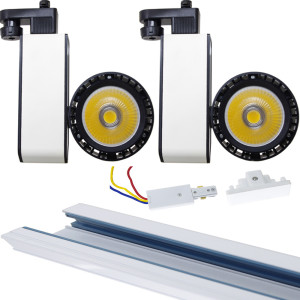 Dimmable LED Track Lights Kit with Rail