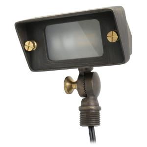 Super Efficiency Flood Light & Wall Wash for Low Voltage Landscape Lighting - Brass (Polished Finish)