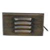 Subtle Louvered Step Light for Low Voltage Landscape Lighting - Brass (Polished Finish)