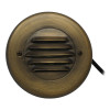 Integrated LED Louvered Deck Light for Low Voltage Landscape Lighting - Brass (Polished Finish)