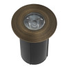 Integrated LED In-Ground Well Light for Low Voltage Landscape Lighting - Brass (Polished Finish)