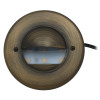 Integrated LED Half Moon Bay Deck Light for Low Voltage Landscape Lighting - Brass (Polished Finish)