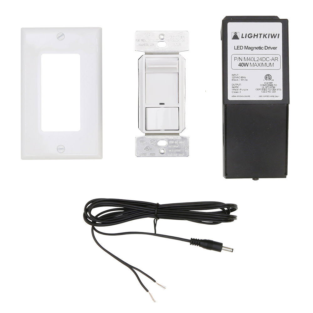 Hardwire Kit Direct Wire For Led Under Cabinet Lighting 96 Watt Wiring A Light Switch Black White Red