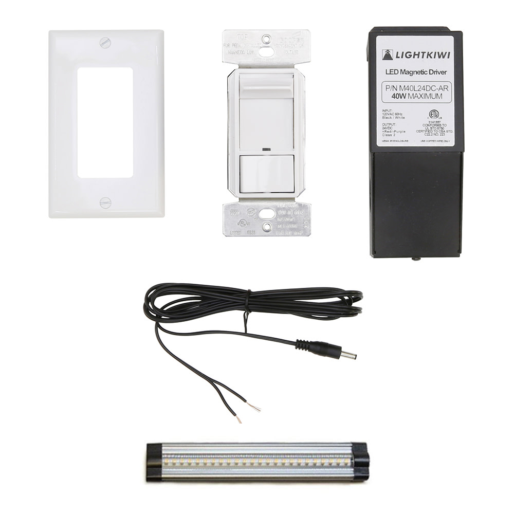 Cabinet lighting 6 Ikea Products Lightkiwi Inch Panel Hardwire Kit Direct Wire For Led Under Cabinet Lighting