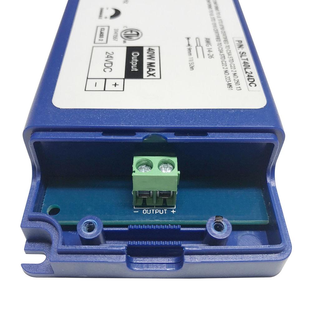40 Watt Flicker Free Dimmable Transformer 24vdc For Led