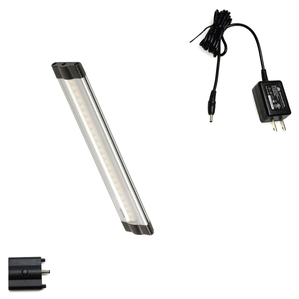 6 inch cool white modular led under cabinet lighting basic kit 1 panel. Black Bedroom Furniture Sets. Home Design Ideas