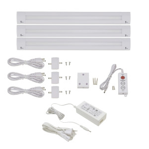 Lilium 12 Inch Warm White Modular LED Under Cabinet Lighting - Premium Kit (3 Panel)