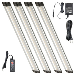 12 Inch Warm White Modular LED Under Cabinet Lighting - Standard Kit (4 Panels)