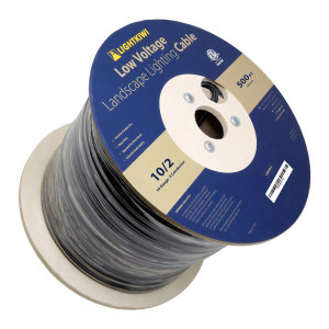 10AWG 2-Conductor Direct Burial Wire for Low Voltage Landscape Lighting, 500ft