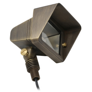 Splendid Flood Light & Wall Wash for Low Voltage Landscape Lighting - Brass