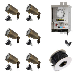 Low Voltage LED Landscape Lighting Kit - (6) Macro Spotlight Kit