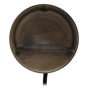 Half Moon Deck Light for Low Voltage Landscape Lighting - Brass