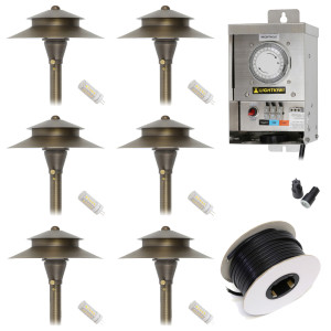 Low Voltage LED Landscape Lighting Kit - (6) Path Light Kit