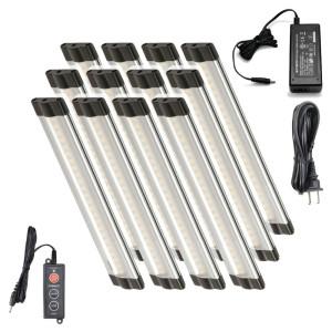 6 Inch Warm White Modular LED Under Cabinet Lighting - Pro Kit (12 Panels)