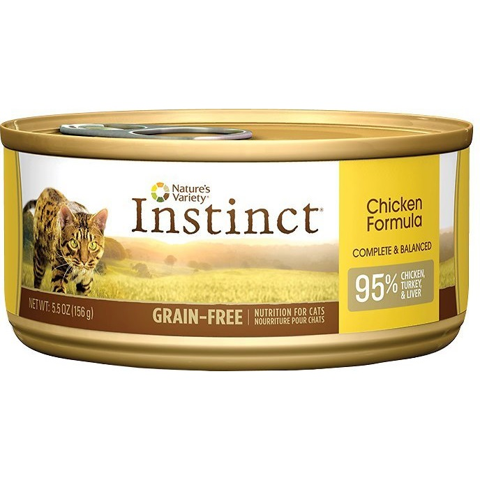 Nature's Variety Instinct Grain-Free Chicken Formula Canned Cat Food 5.5z, 12