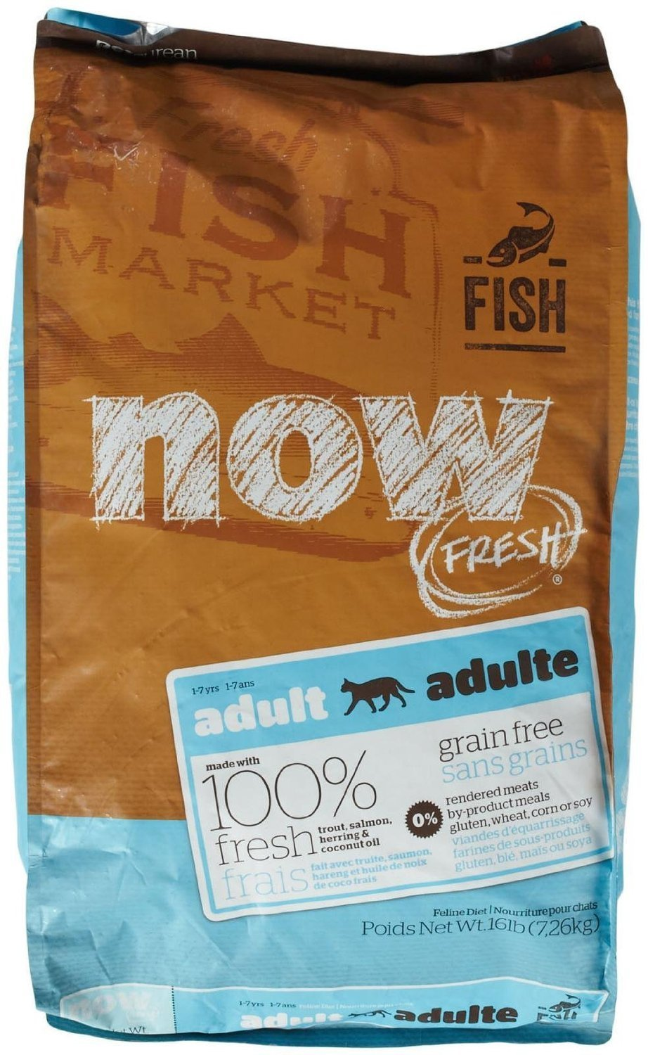 Petcurean Now Fresh Grain-Free Adult Fish Recipe Dry Cat Food 16lbs