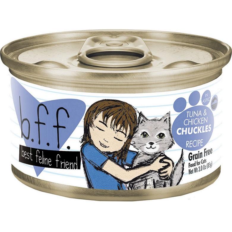 Weruva BFF Grain-Free Tuna & Chicken Chuckles Recipe in Aspic Canned Cat Food 3z, 24