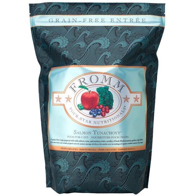 Fromm Four-Star Nutritionals Grain-Free Salmon Tunachovy Dry Cat Food 5lbs
