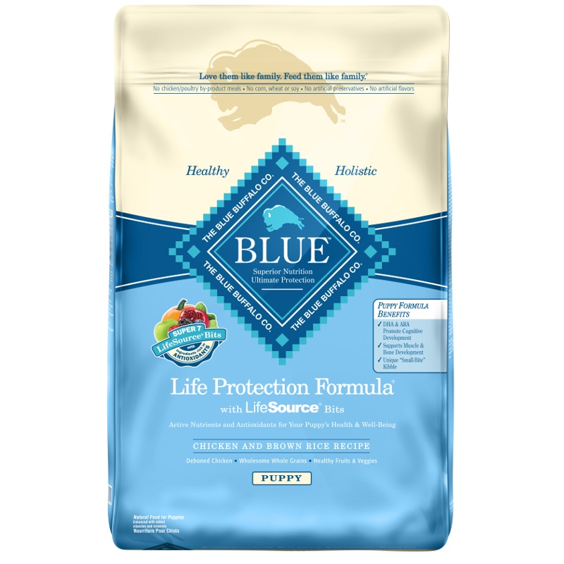 Blue Buffalo Life Protection Formula Puppy Chicken & Brown Rice Recipe Dry Dog Food 15lbs