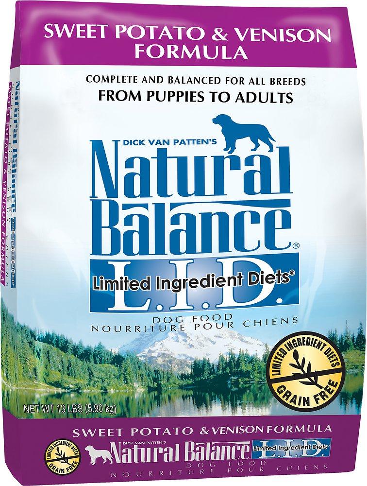Natural Balance L.I.D. Limited Ingredient Diets Sweet Potato & Venison Formula Dry Dog Food 13lbs