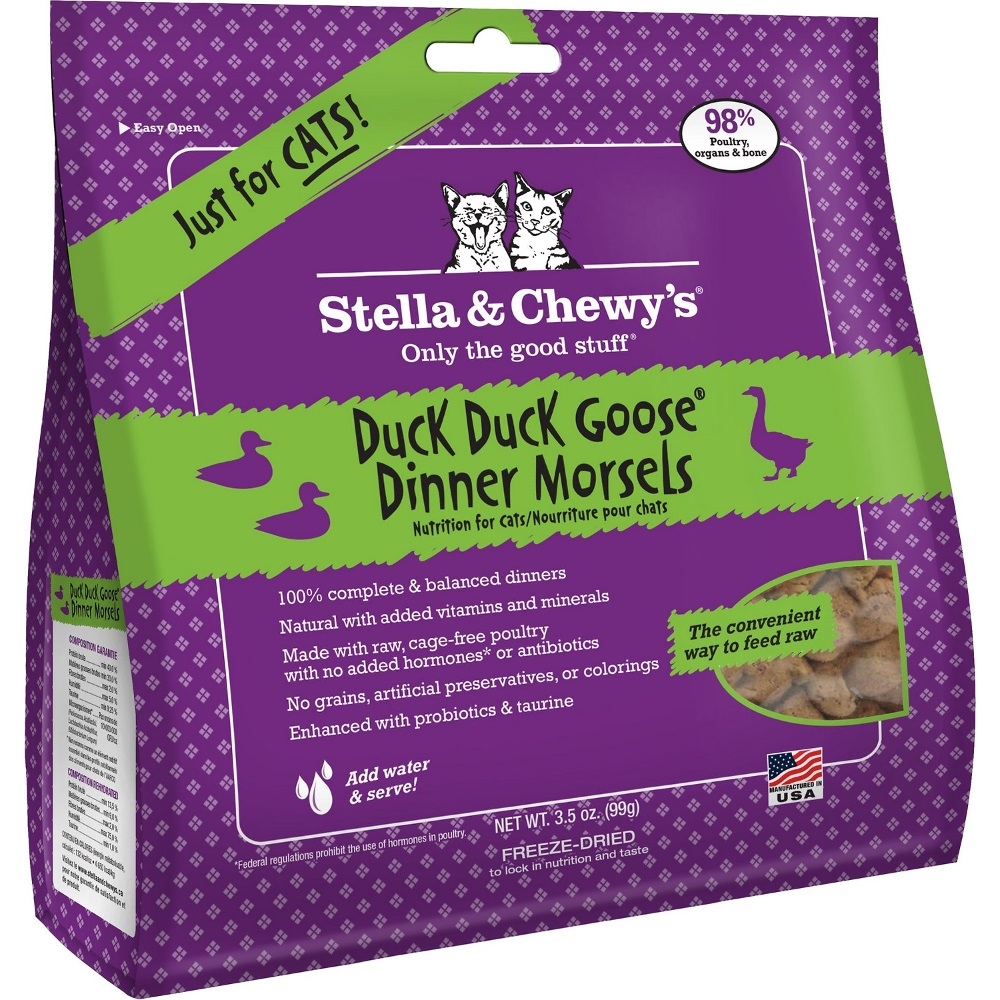 Stella & Chewy's Duck Duck Goose Dinner Raw Freeze Dried Cat Food 3.5z