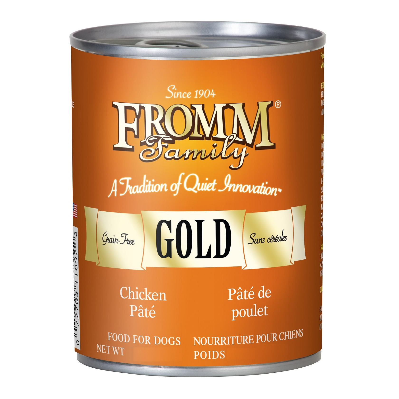 Fromm Gold Grain-Free Chicken Pate Canned Dog Food 12.2z, 12