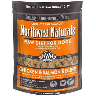Northwest Naturals Raw Diet Grain-Free Chicken & Salmon Nuggets Raw Frozen Dog Food 6lbs