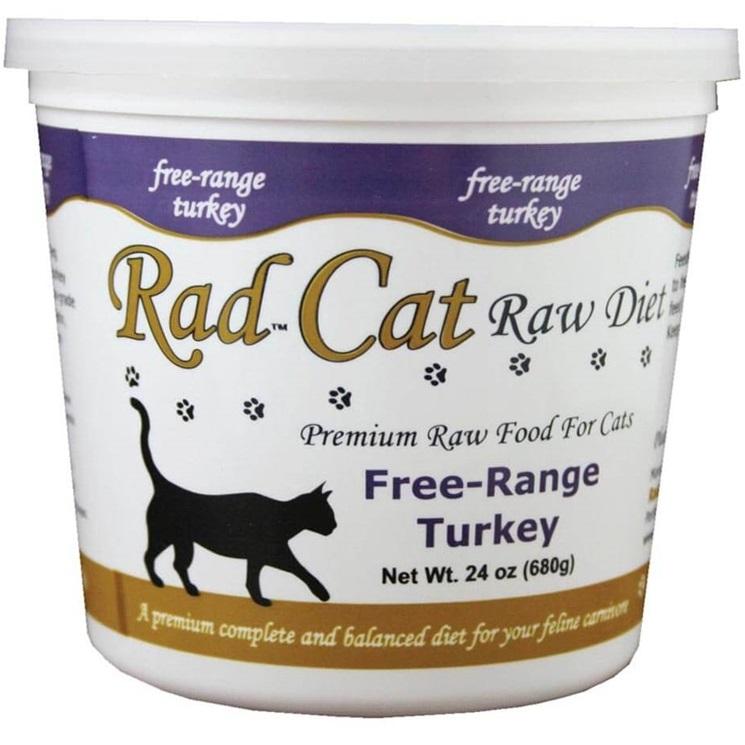 Rad Cat Free Range Turkey Grain-Free Raw Frozen Cat Food 24z