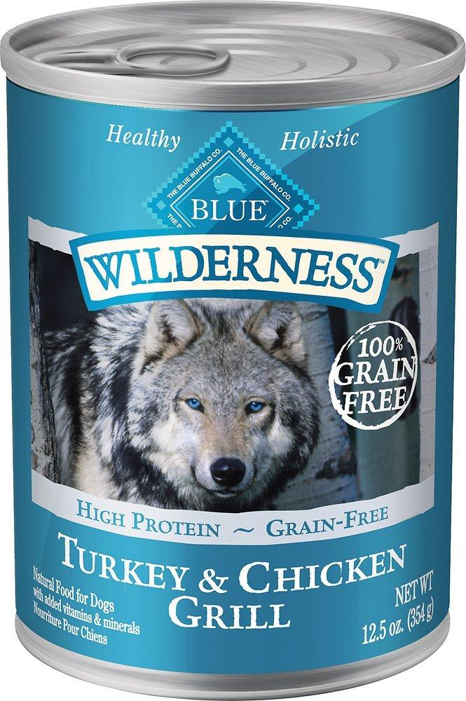 Blue Buffalo Wilderness Turkey & Chicken Grill Grain-Free Canned Dog Food 12.5, 12