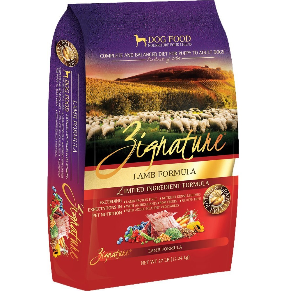 Zignature Grain-Free Lamb Limited Ingredient Formula Dry Dog Food 27lbs